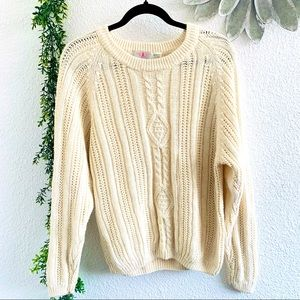 American Weekend fishermen cable knit sweater